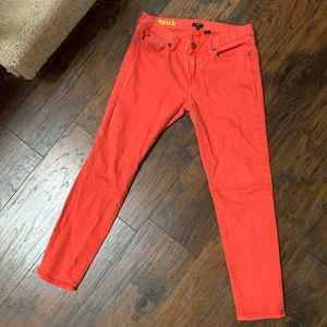 J.Crew Coral Toothpick Jeans, Size 30